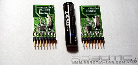 Moway Modulos RF comparativa pila AAA