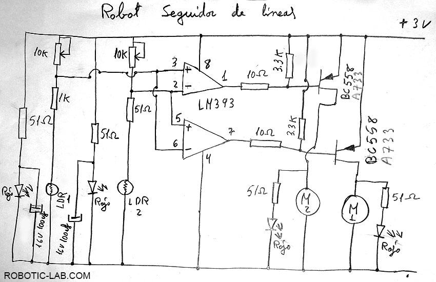 Como hacer un robot sigue lineas casero robotic lab com for Hacer planos en linea